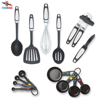 FINDKING 14 Piece Kitchen Tools Gadget Set included Slotted Turner Spoon Can Opener Peeler Whisk Measuring cups Measuring Spoons