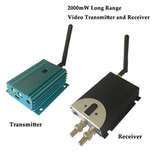 2.4ghz 8 Channel Long Distance Wireless Video Transmitter 4000m 2000mW CCTV Video Sender 2.4G wireless transceiver(China)
