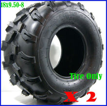 "TDR 2X 4PLY 18 X 9.50 - 8"" inch Rear Back Tyre Tire 150cc Quad Dirt Bike ATV Moto Wheels Free Shipping HHY(China)"
