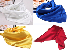Hot Sale Solid Color Small Square Satin Artifical Silk Scarf for Ladies Women's Scarves Handkerchief 60cm*60cm