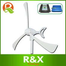 Horizontal wind generator 300w, 12V/24 wind turbine, come with wind/solar hybrid controller LCD display+600w off grid inverter.