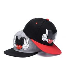 2017 New Brand Summer Cartoon scissors hand Baseball Cap Snapback Hats For Men Women Cute Mouse Hip Hop Caps Casquette Hat