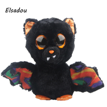 Elsadou Ty Beanie Boos Stuffed & Plush Animals Black Bat with Flower Wing Toy Doll