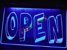 LB199- OPEN Cartoon Display Shop Welcome   LED Neon Light Sign home decor shop crafts