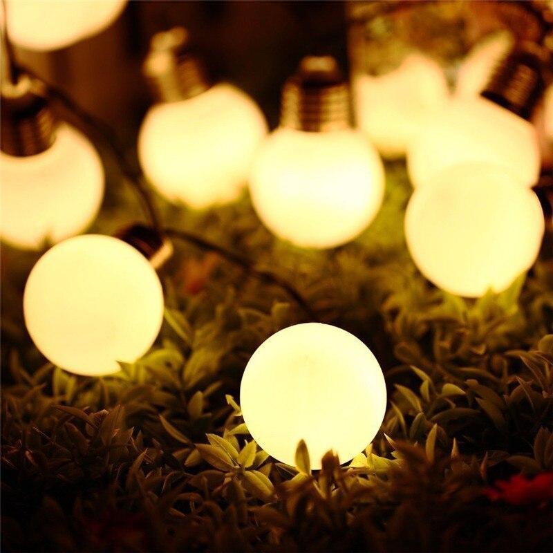 Holiday Lighting Solar Simulation Retro G50 Bulb 10LED/20 Light Bulb Light String Garden Garden Control Decorative String Oct4