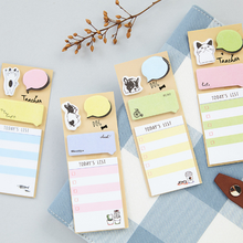 4 Pcs/pack Cute Today's List Cartoon N Times Self-Adhesive Memo Pad Sticky Notes Post It Bookmark School Office Supply