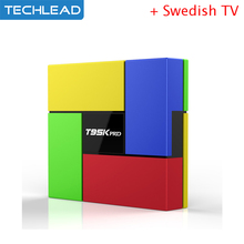 T95K pro Arabic iptv Set top box octa core with Swedish tv program IT dutch Arabic sports channel Russia Greek UK USA iudtv code
