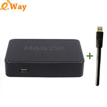 Free DHL 50pcs/lot Mag 250 Linux Iptv tv Box Linux Operating System Iptv Set Top Box With WIFI Mag 250 tv Box Mag250 Server box