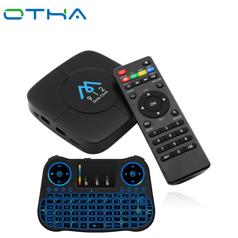 OTHA Amlogic S912 Octa-core Set-top TV Box CPU Android 7.1 Box S912 3g+32G/2g+16g Bluetooth 4.0 2.4GHz WiFi HDMI 2.0 TV Receiver