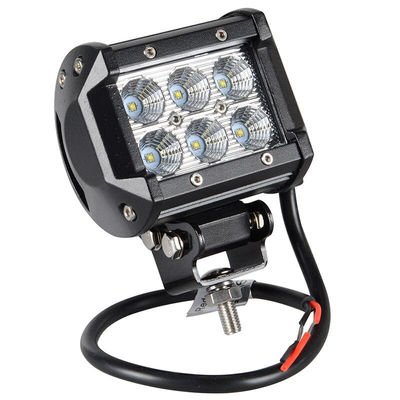 Pair 4 Inch 18W  LED Work Lamp Light Bar Offroad 12V IP67 FLOOD FOR 4x4 OFF ROAD ATV TRUCK BOAT UTV WORKLIGHT<br><br>Aliexpress