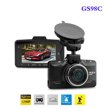 Car DVR Ambarella A7 LA70 GS98C Car Camera Video Recorder 170 Degree 2304*1296P G98C Car DVR GPS Logger with G-Sensor HDR H.264