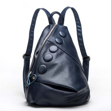New Style Backpack Litchi Grain Backpack Institute of Fashion Wind Backpack(China)