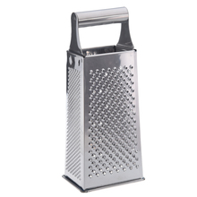 Practical Stainless Steel 4 Sided Box Grater (Silver)