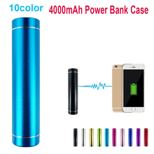 Round 5V USB Mobile Power Bank Charger Pack Box Battery Case for 1x 18650 Battery