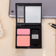 Twin-Layer, Double Color Blusher, Pink & Orange Perfume Cosmetic Mineral Powder Makeup Palette With Brush