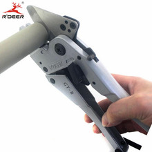 RDEER 42mm PVC Pipe Cutter PP-R/PU/PE  Pipe Plastic Hose Ratcheting Cutters Stailess Steel Blade Cutting Tool