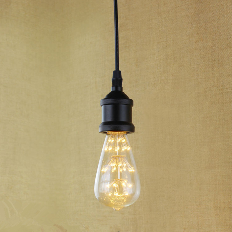 E27 Black Simple Vintage Retro Filament Pendant Light For Bar Cafe Living Room Balcony Decoration Eddison Bulb Kits<br><br>Aliexpress
