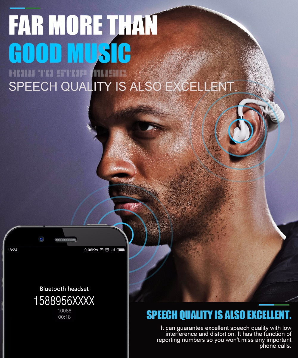2017 Latest S.Wear Stick Spring Wireless Headphones Elastic Bluetooth Earphone call phone transparent air music headset with mic
