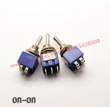 5 Pcs  ON-ON 6 Pin Mini  Miniature Latching Toggle Switch MTS202 3A/250V 6A/125V