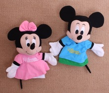1pc 30cm Cute Plush Cartoon Mickey & Minnie Mouse Hand Puppet Creative Designs Learning Aid Toys for Kid Gifts For Child Birthay