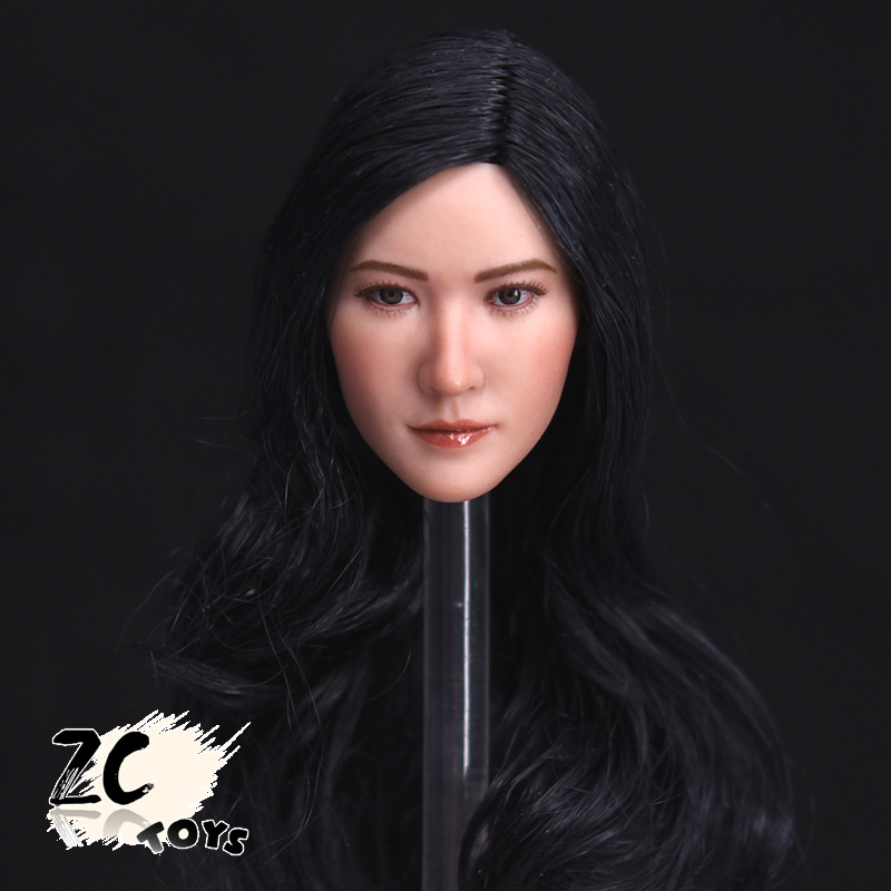 ZCtoys New 1/6 Scale Female Head Sculpts Model Toys Asia Beautiful Girl Long Hair Woman Head Carving   Model Gifts Collections<br><br>Aliexpress