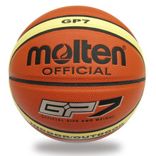 Free Shipping Offical Molten Basketball GP7 Size 7 PU Basketball Ball Outdoor Indoor Training Ballon Free With Net Bag+Pin