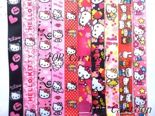 Free Shipping 50 Pcs Popular Cartoon Hello Kitty key chains Mobile Phone Neck Straps Keys Camera ID Card Lanyard  W123