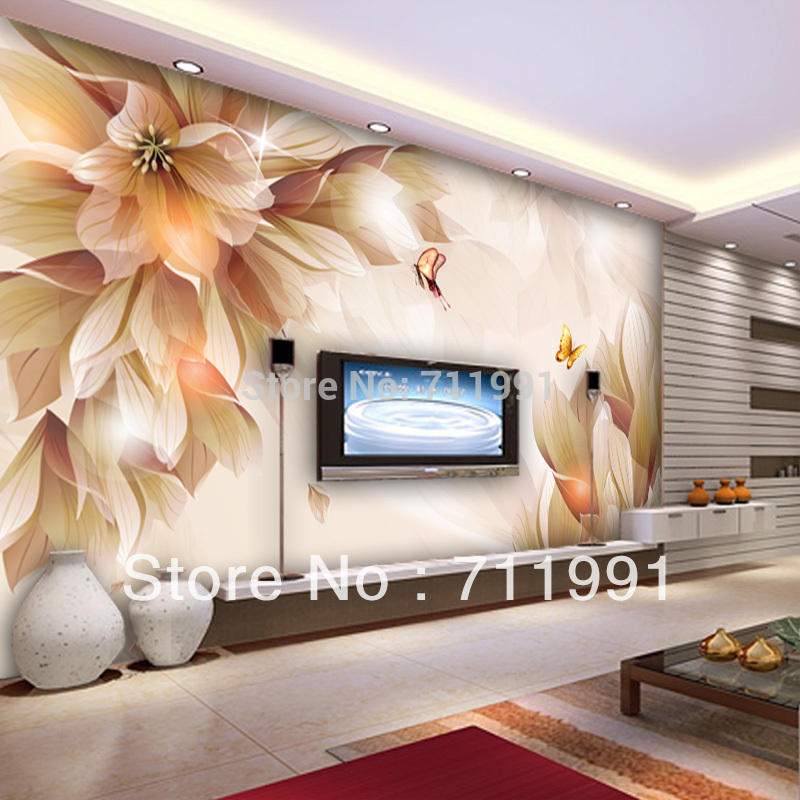 Custom papel DE parede 3 d, large murals papel DE parede floral used in the sitting room the bedroom TV wall vinyl  wallpaper <br>