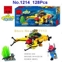 Enlighten 1214 128pcs Diver Super Pigboat Bottom part Submarine Building Block Brick Toy