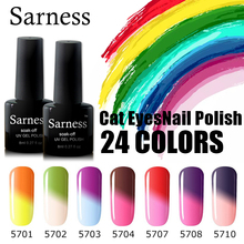 Sarness 8ml Chameleon Nail Gel Polish Temperature Thermal Color Change for Nail Gel Varnish Soak Off Cheap UV Gel Nail Polish