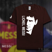 2017 summer brand 100% cotton Barcelona Footballer star Men t-shirt tops Man casual Argentina t shirts Plus Size Lionel Messi