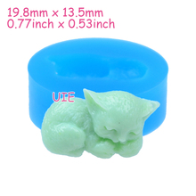 DYL006U 19.8mm Cat Silicone Mold - Animal Mold Fondant, Cell Phone Deco, Cabochon Candy, Resin, Candle, Jewelry, Cookie Biscuit