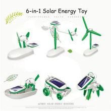 Puzzle Creative 6-In-1 Solar Educational Transformation Robot DIY Toy Solar Battery Powered Transform Learning Gift For Children(China)