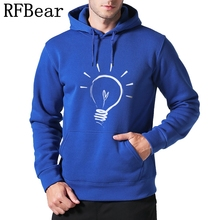 RFBear Brand new men Hoodies sweatshirt Solid color Print trend cotton pullover coat men Clothes hip-hop male Factory outlet(China)