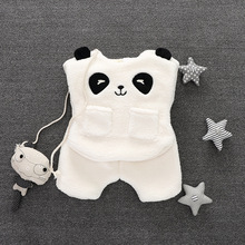 Girl baby clothes 2016 new autumn winter girls baby outfits vest+pant 2pcs clothes newborn suit cute panda style baby boys set(China)