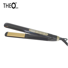 Theo Touch Screen Switch Control Professional Anti-scald Fast Hair Straightener Hair Curler Electric Straightening Irons HQT-716(China)