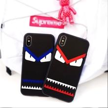 fashion car demon case iphone 6 6plus 6s plus 7 7plus 8 8plus X cases Funny eyes trend Soft silicone phone cover coque capa