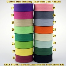 "Free shipping-100% Cotton Bias tape,size: 20mm, width:3/4"",12 color.25yds fold tape,DIY material $4/lot wholesales,solid color"