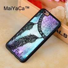 MaiYaCa Dreamcatcher feather pattern Case For iphone 7 Soft TPU Mobile Phone Cases Back Cover Rubber Case For iphone 7 Coque(China)
