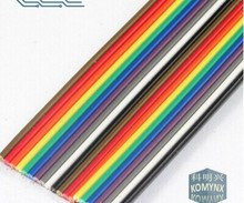 ribbon cable 20 WAY Flat Color Rainbow Ribbon Cable wire Rainbow Cable 20P ribbon cable 1.27MM pitch 1meters/lot IN STOCK(China)