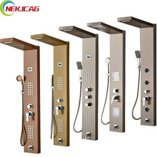 Bathroom Wall Mounted Stainless Steel Shower Panel Shower Body Massage with Hand Shower Tub Spout Bath Shower Column