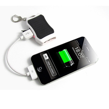 1200mAh Solar Keychain Solar Mobile Charger Backup External Battery Pack Solar Power Bank For iPhone Cellphones