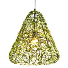 Pastoral Style Creative Rattan Chandeliers Modern Artistic Metal Hanging Light Restaurant Aisle Bar Cafe Lighting Fixtures PL568(China)