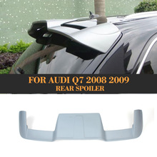 B style FRP rear roof window spoiler lip wing for Audi Q7 2008 2009 Unpaited grey prime