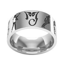 8mm outer flat inner arc Michael Jackson Dance Ring - Silver(China)