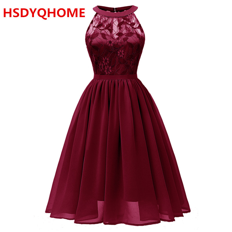 2019 Summer Evening Prom dresses Short Party dress Women's A-line Sexy Prom party gown