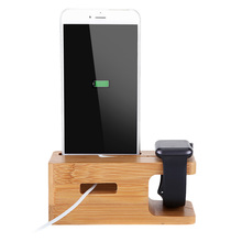 Bamboo Charging Stand Support Holder for Apple Watch iPhone ipad All Brands Stand Holder High Quality 2017 New(China)