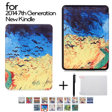 "smart leather cover case Kindle Case for 2014 7th Generation New Kindle 6"" ereader Cover Kindle Cover for Amazon New Kindle Case"