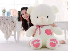 Free shipping 95cm heart to heart teddy bear plush toy gift for lover's teddy bear gift factory supply