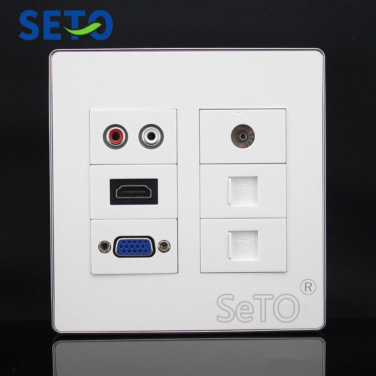 SeTo 86 Type Open Installation Bottom Box Outlet Socket Wall Plate